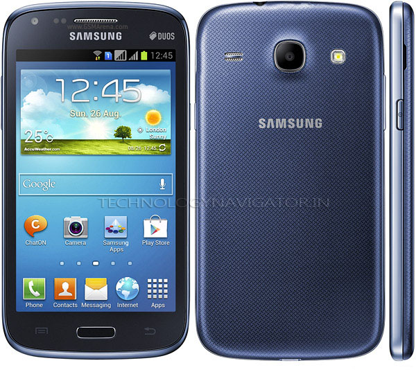samsung galaxy core metallic blue